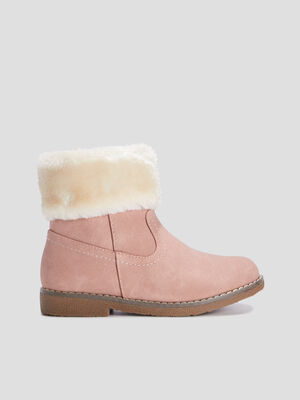 Bottines cavalieres zippees rose fille
