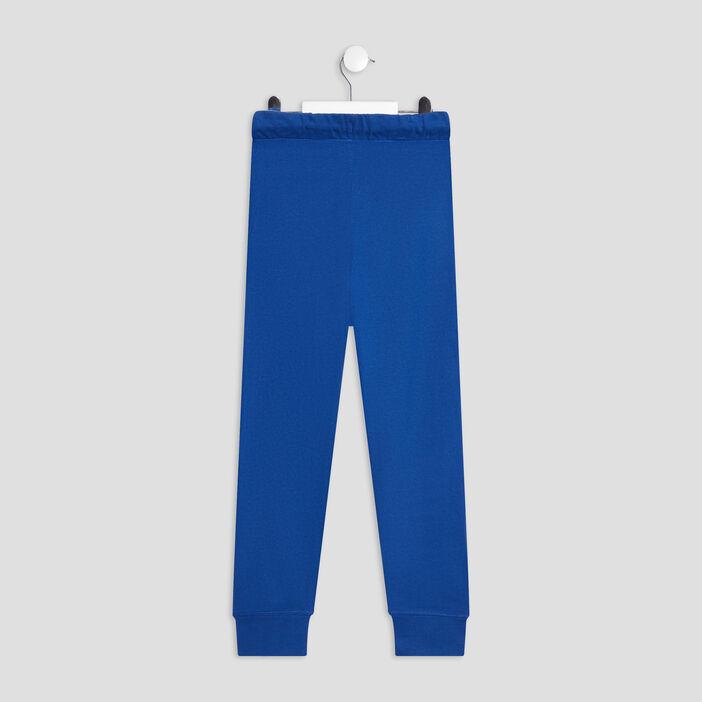 Jogging taille à coulisse garçon bleu electrique