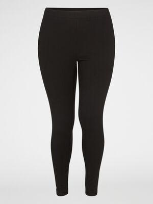 Legging long coton majoritaire noir femme