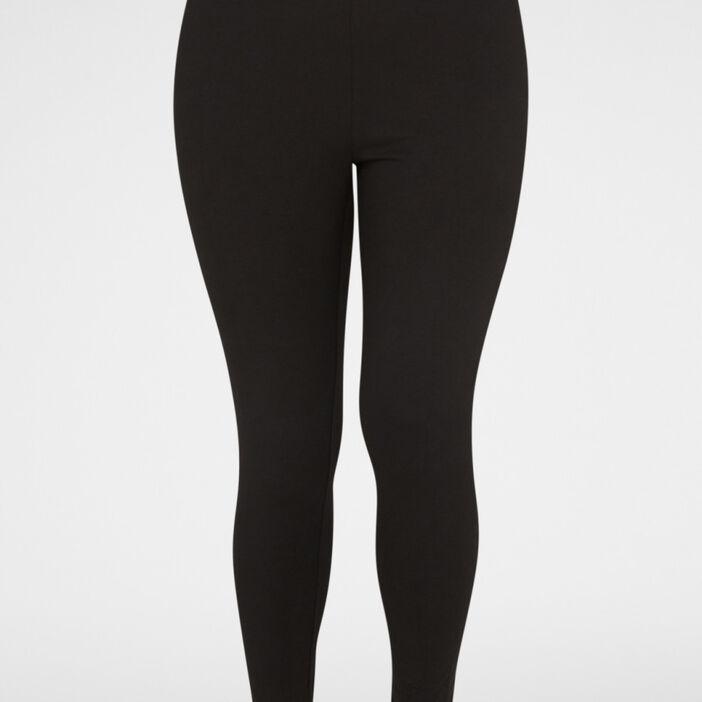 Legging long coton majoritaire femme noir