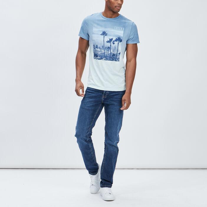 Jeans regular Creeks homme denim double stone