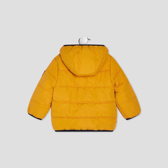 Doudoune droite à capuche bébé garçon jaune