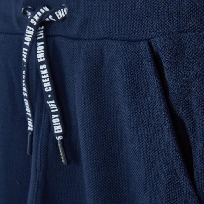Short uni tissu piqué garçon bleu marine