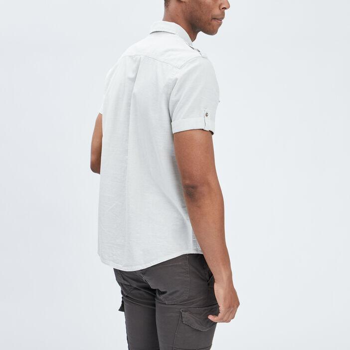 Chemise boutonnée Trappeur homme ecru