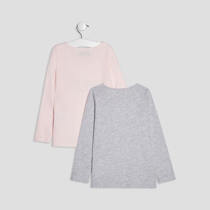 Lot 2 ensembles pyjamas fille rose
