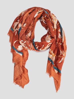 Foulard orange femme