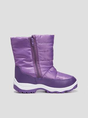 Bottes apres ski zippees violet fille