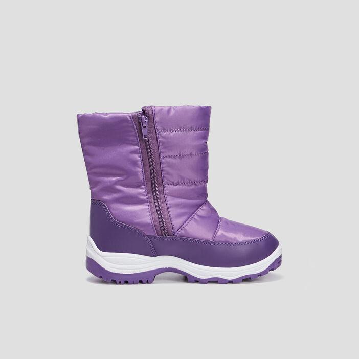 Bottes après-ski zippées fille violet