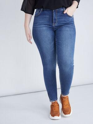 Jean skinny grande taille denim stone femme