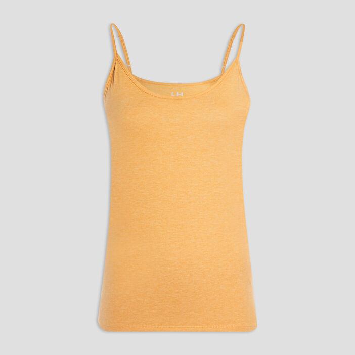 Débardeur bretelles fines femme jaune moutarde