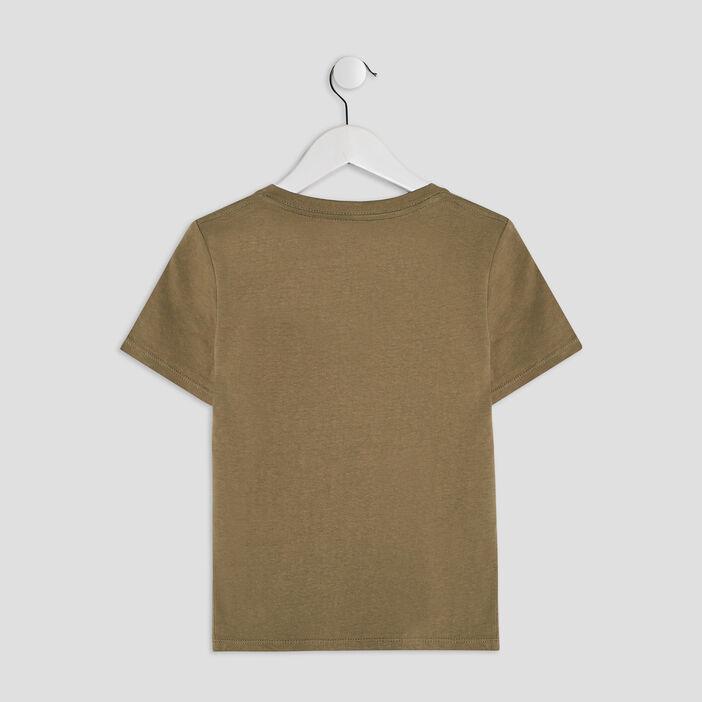 T-shirt manches courtes garçon vert kaki