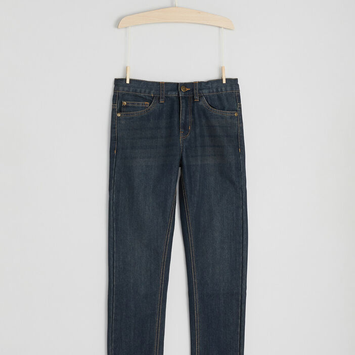 Jeans straight garçon denim dirty