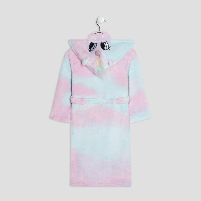 Peignoir de pyjama à capuche fille multicolore