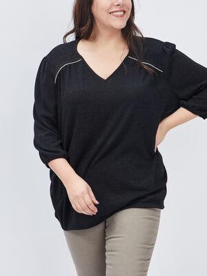 T shirt grande taille noir femmegt