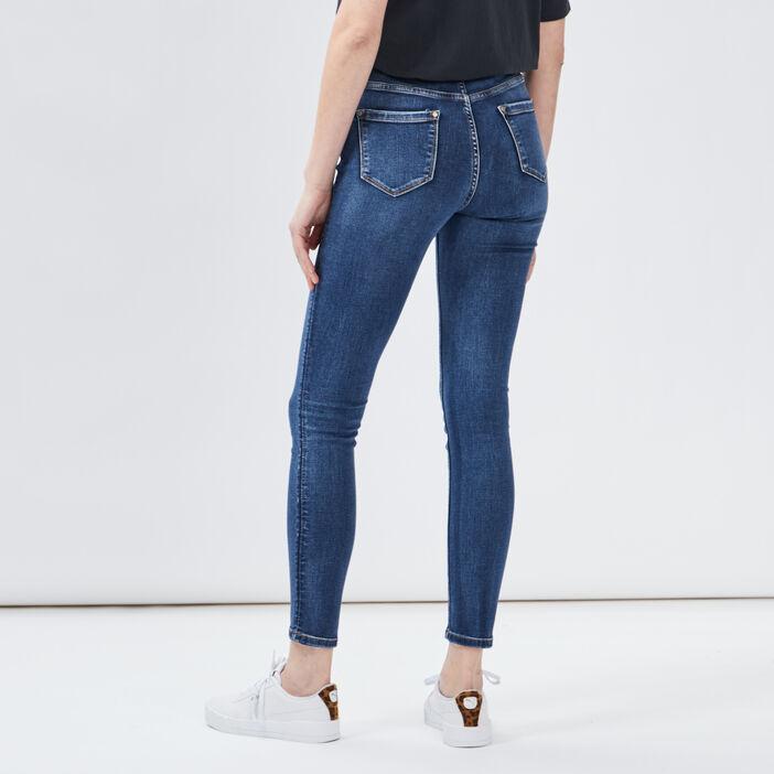 Jeans skinny taille haute femme denim stone