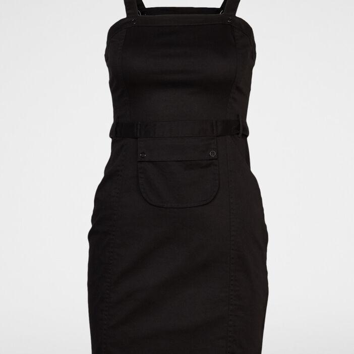 Robe cintrée à bretelles femme noir
