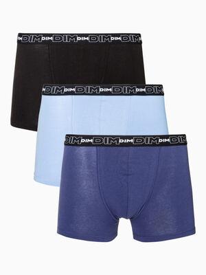 Lot de 3 boxers Dim bleu homme