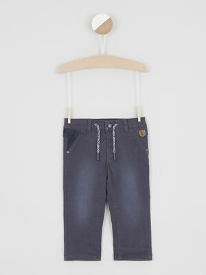 Pantalon avec cordon de serrage bleu garcon