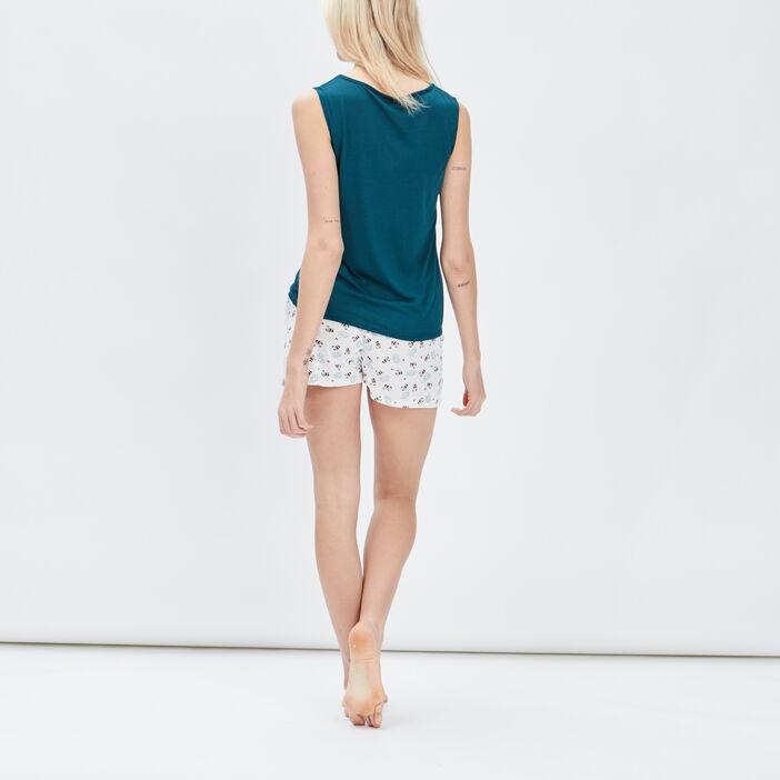 Ensemble pyjama 2 pièces femme vert