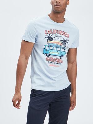 T shirt Volkswagen bleu homme