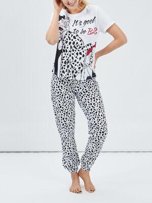 Ensemble pyjama 101 Dalmatiens blanc femme