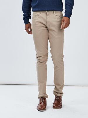 Pantalon slim beige homme