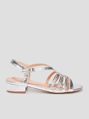 Sandales irisees couleur argent femme