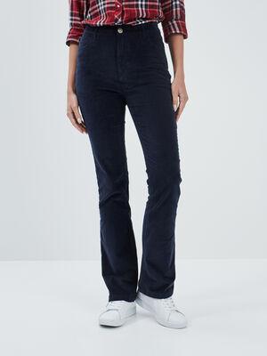 Pantalon bootcut Creeks bleu marine femme