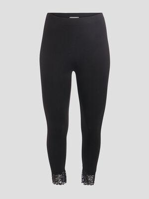 Leggings avec dentelle noir femmegt
