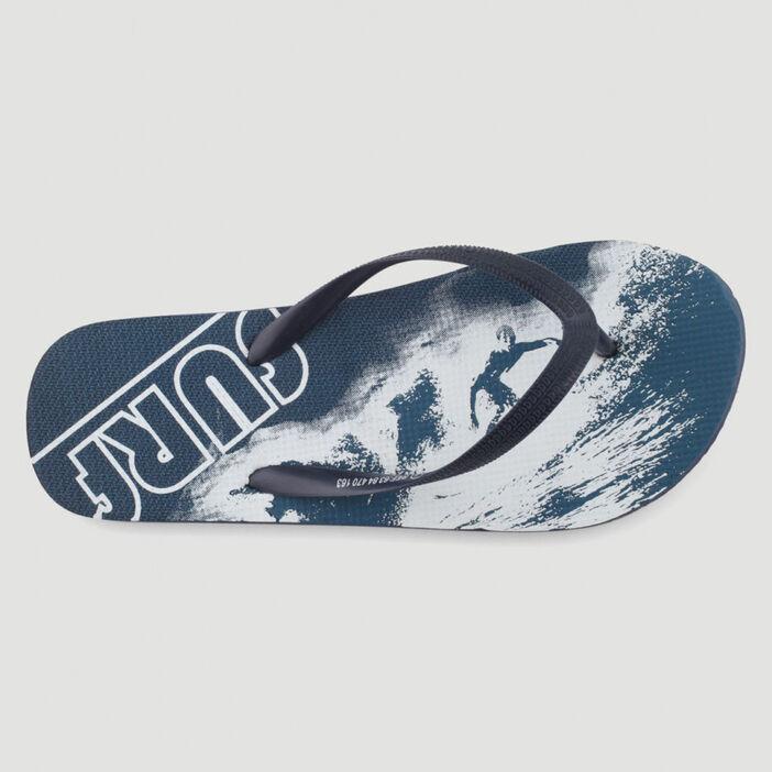 Tongs avec motifs surf garçon bleu