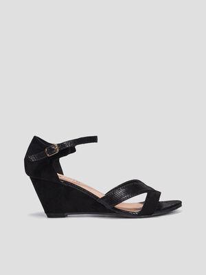 Sandales compensees Liberto noir femme