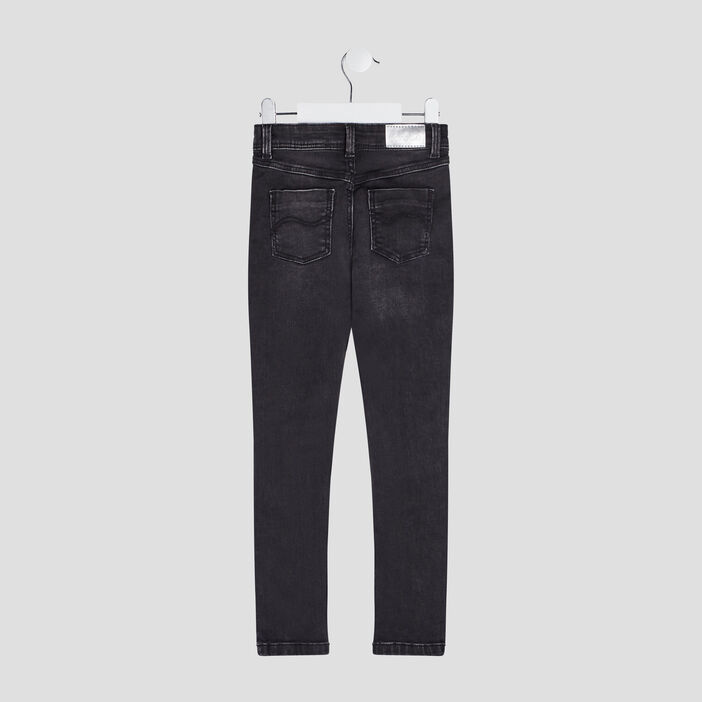 Jeans droit Liberto fille denim snow noir