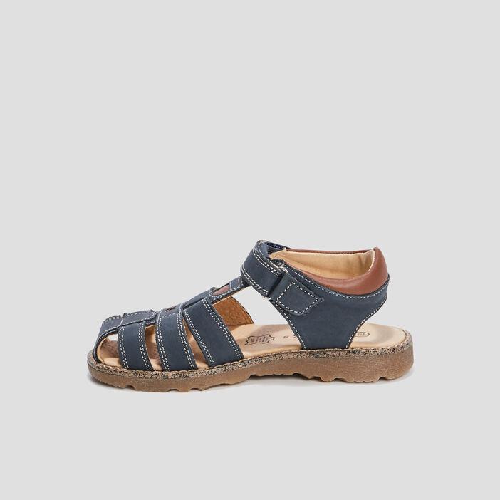 Sandales en cuir Creeks garçon bleu