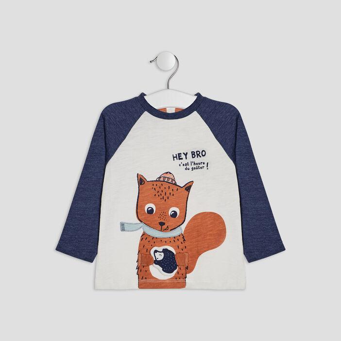 T-shirt manches longues bébé garçon bleu