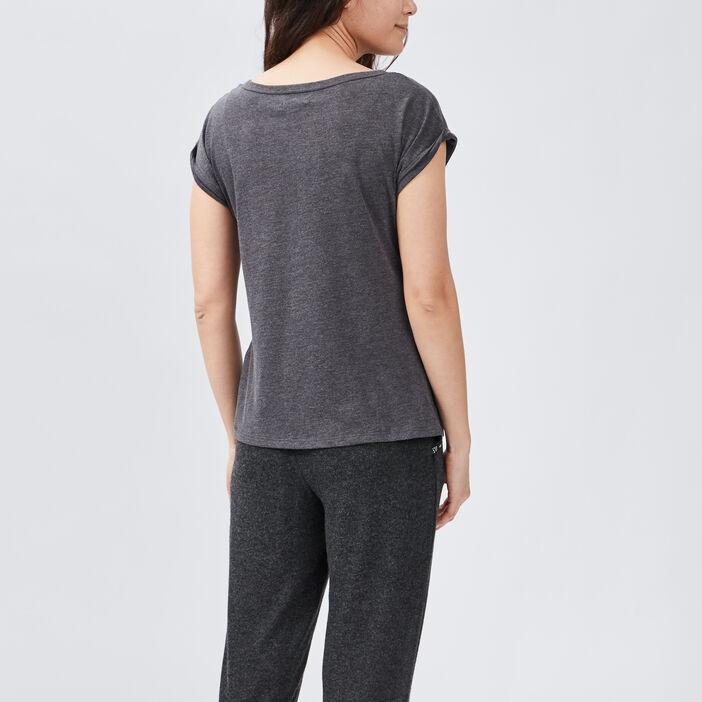 Haut de pyjama femme gris foncé