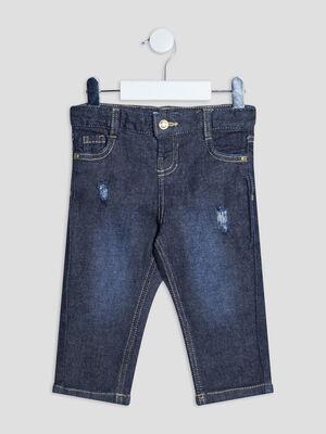 Jeans regular taille ajustable Creeks denim brut bebeg