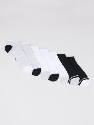 Lot 7 paires socquettes assorties gris femme