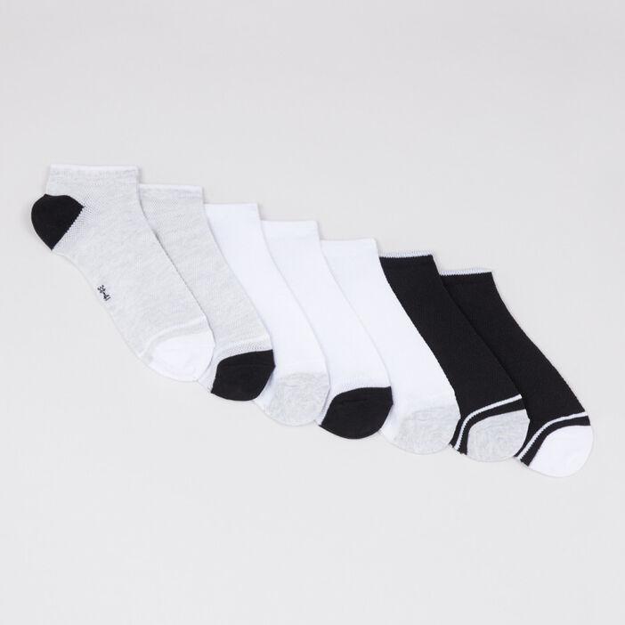 Lot 7 paires socquettes assorties femme gris