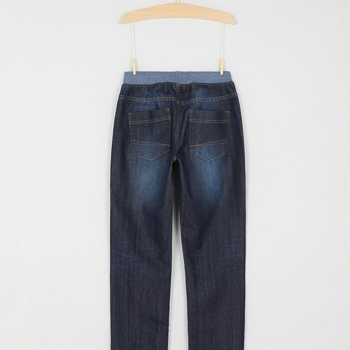 Jean taille extensible coton majoritaire garçon denim brut
