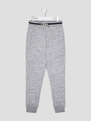 Jogging taille reglable gris garcon