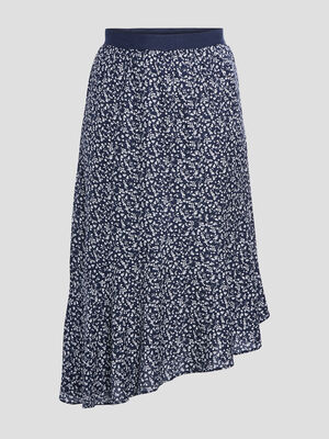 Jupe longue grandes tailles bleu marine femmegt