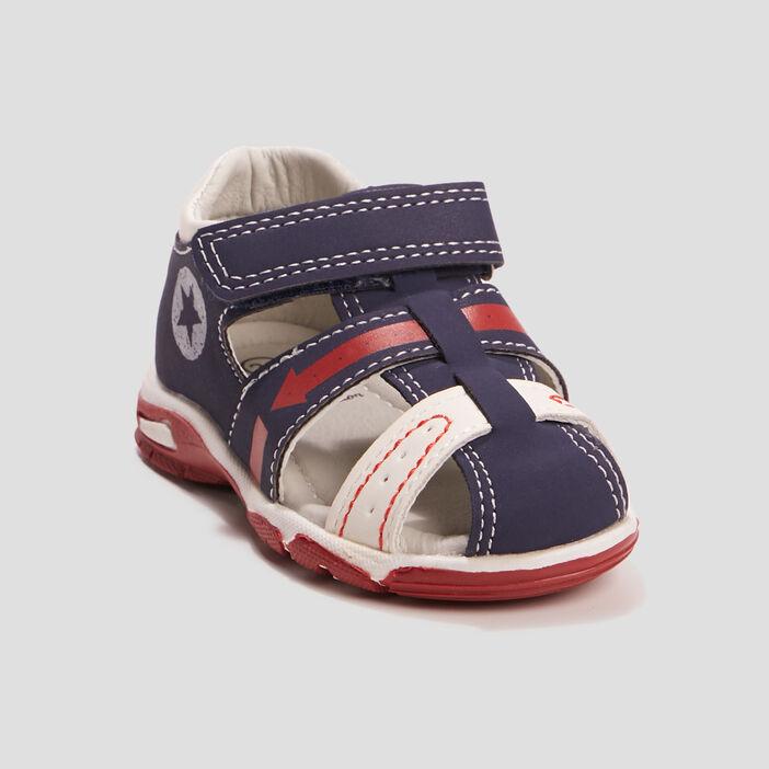 Sandales Pat et Ripaton bébé garçon bleu