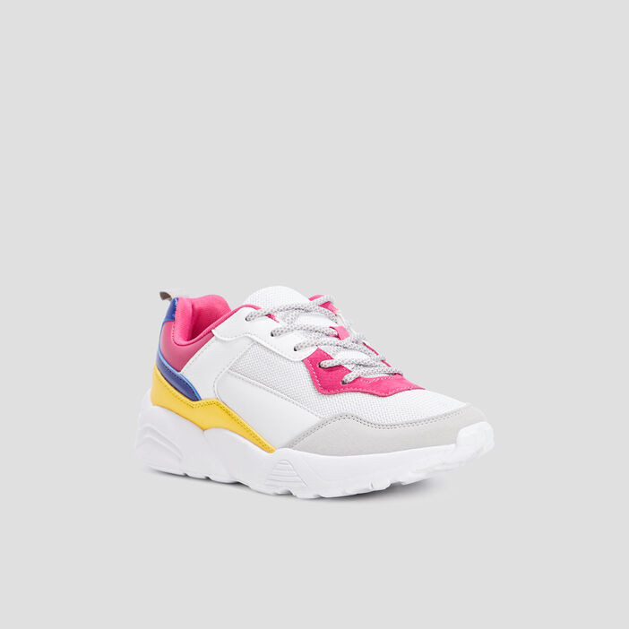 Baskets running femme multicolore