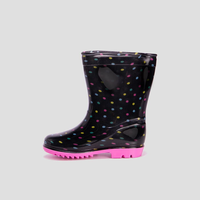 Bottes de pluie fille noir
