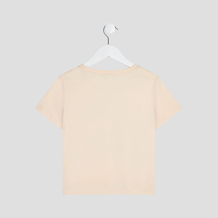 T-shirt manches courtes Creeks fille rose clair