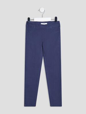 Pantalon tregging bleu marine fille