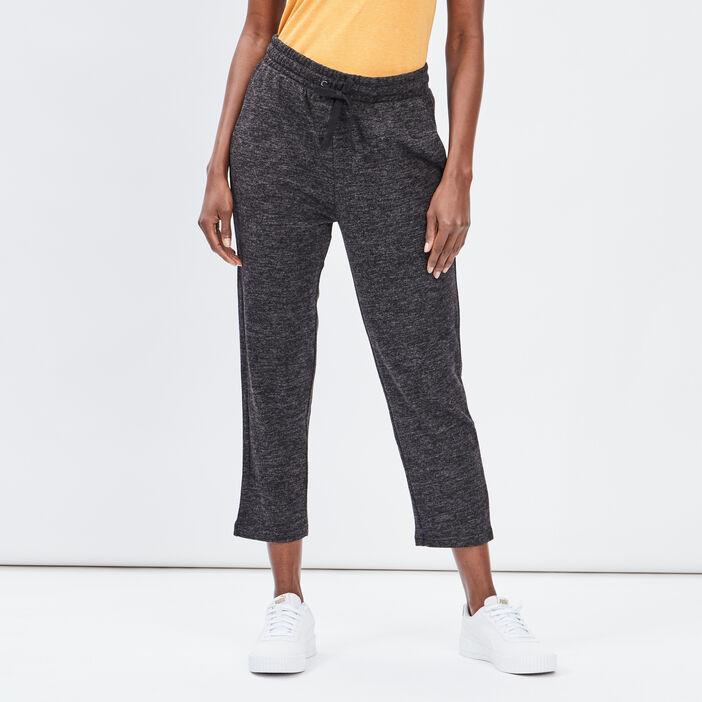 Pantalon jogging 7/8ème femme gris fonce