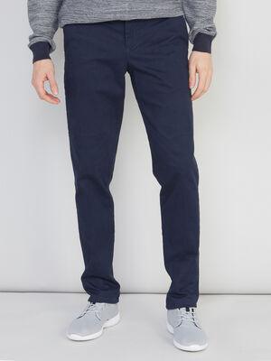 Pantalon slim uni bleu marine homme