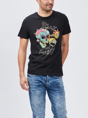 T shirt Rick et Morty noir homme