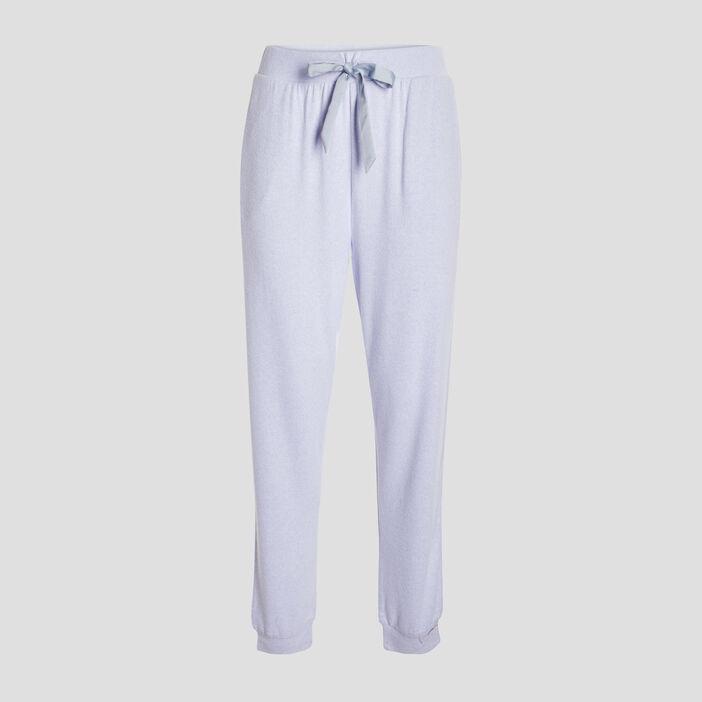 Bas de pyjama femme bleu lavande